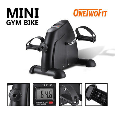 OneTwoFit Mini Exercise Bike Portable Pedal Exerciser with LCD Display OT068