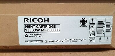 Genuine Ricoh 841129 C3300S Yellow Toner for MP C2800 C3300 Brand New See Photos