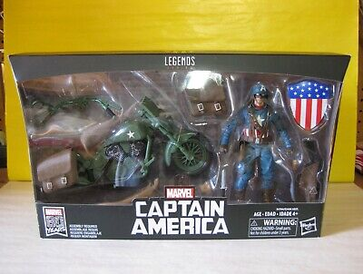 """2019 Marvel Legends Ultimate WWII Captain America 6"""" w/Motorcycle Marvel Riders"""