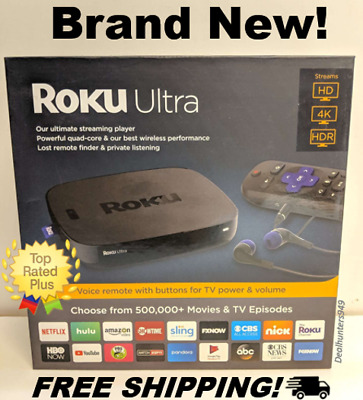 Roku Ultra 4660R 4K HDR Streaming Media Player Streamer w/ JBL Headphones, Black