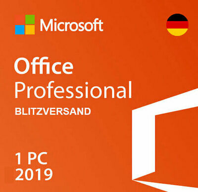 Microsoft Office 2019 Professional Plus Lizenz 32/64BIT 1PC Vollversion
