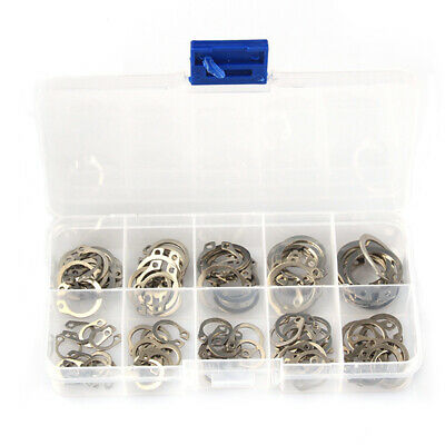 304 Stainless Steel External Circlip Retaining Ring Assortment 8-18mm set of 100