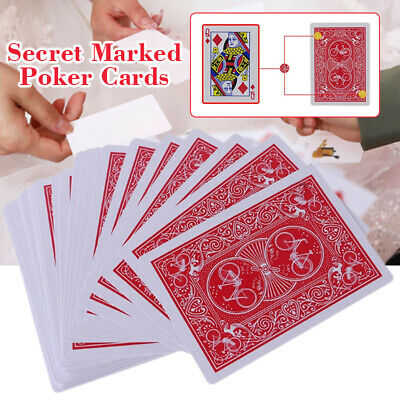 New Secret Marked Stripper Deck Playing Cards Poker Cards Magic Toys Trick AU