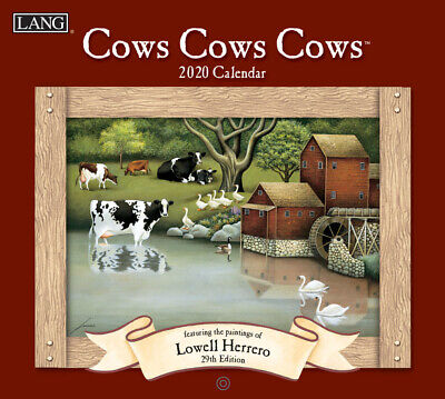 Cows Cows Cows Lowell Herrero 2020 Lang Wall Calendar Packed Well Free Postage