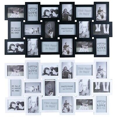 Multi Aperture Full Family 18 Photos Picture Wall Mount Frame Memories Collage