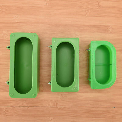 Plastic Green Food Water Bowl Cups Parrot Bird Pigeons Cage Cup Feeder Feedin GN