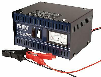 FERM BCM1021 Electronic Battery Charger - 6V/12V With Battery terminal cables