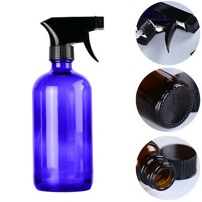 AB_ 250/500ml Glass Spray Bottle Essential Oil Cleaner Refillable Container Sera