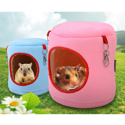 warm bed rat hammock squirrel winter toys pet hamster cage house hanging nes~GN