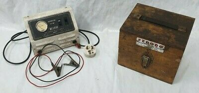 Vintage Ferodo Brake Efficiency Tester And A 2-4 Amp Motorcycle Battery Charger