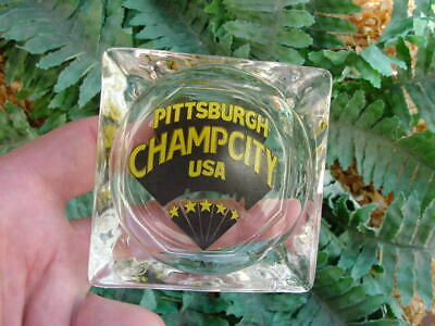 Pittsburgh CHAMP CITY ashtray - vintage Steelers Pirates  - City of Champions
