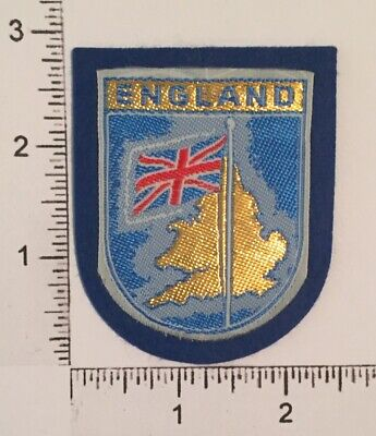 Vintage ENGLAND Great Britain Flag Country Travel Souvenir PATCH