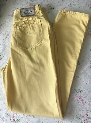 Fabulous 80s BALLY Mom Style Vintage High Waist  Jeans 40 Fit Size 10-12 Yellow