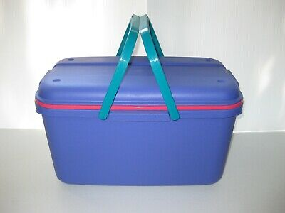 Eagle CRAFTSTOR Purple PLASTIC TOTE Crafts Sewing LARGE Storage Container & Tray
