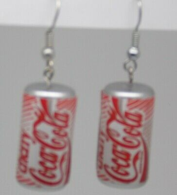 Cherry Coca Cola Drink Can Novelty Earrings