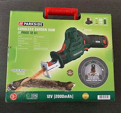 Parkside Cordless Branch Garden Saw PAAS 12 A1 & 12V Battery