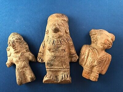 🌟 Estate Find Pre Columbian Ecuador Guangala Culture Pottery Standing Figures