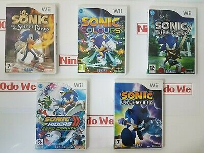 Sonic the Hedgehog Game series (Wii) Multi-Listing - NEAR MINT - FAST POST