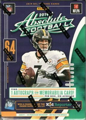 2019 Panini Absolute NFL Football Trading Cards Factory Sealed Blaster Box