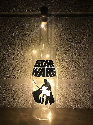 Star Wars Light Up Bottle, Gift, Unique, Christmas, Birthday, Personalised