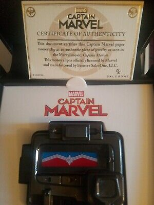 2019 SDCC ABC Captain Marvel Nicky Fury Pager Money Clip AVENGERS