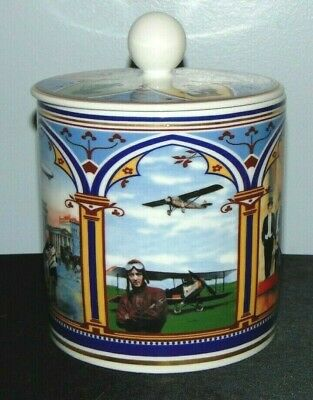 Tafelstern Porcelain Canister W/Lid Made In Germany Vintage Highlights BEAUTIFUL