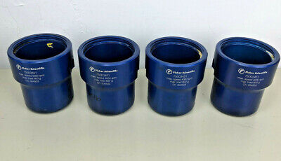 FOUR Fisher Scientific Centrifuge Buckets 75003451 + 8 inserts 4 brown & 4 green
