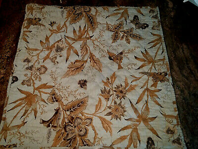 Pottery Barn Euro Bird Toile Quilted Shams-Linen Green Brown Cotton Blend