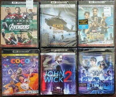 4K Uhd + Bluray Movies Buyer Chooses Title - See Description - Disney Marvel