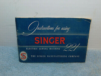 Rare 1955 blue Singer Featherweight 221 manual