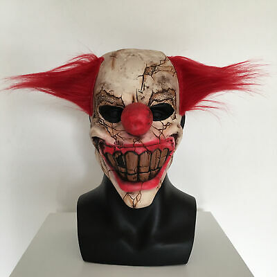 NEW Scary Latex Horror Clown Halloween Mask Masquerade Party Costumes Dress Prop