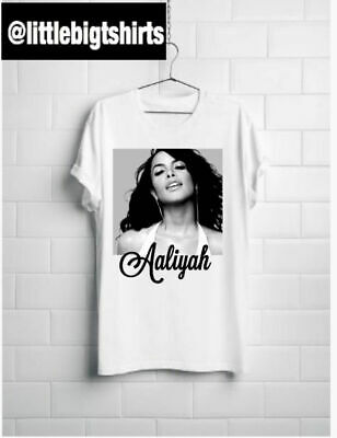 New Aaliyah black and white T shirt S-5XL