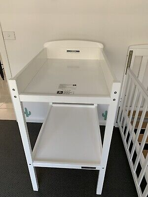 Baby Change Table White Wood -Childcare