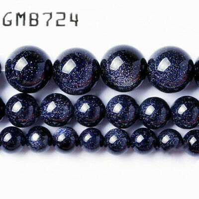 """Factory price Natural Blue SandStone Round Loose Beads 15"""" Strand 4 6 8 10 12 MM"""