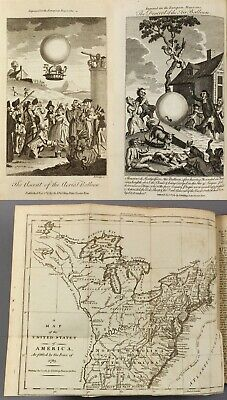 1783 | v early map title 'United States' after revolution + first balloon flight