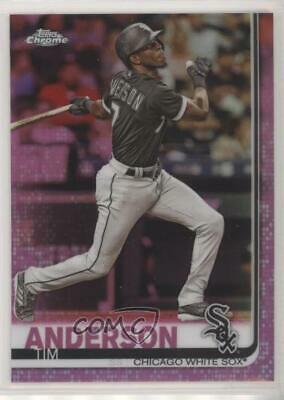 2019 Topps Chrome Pink Refractor #186 Tim Anderson Chicago White Sox Card