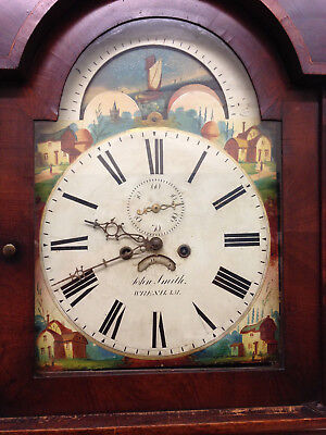 Grandfather Clock long case 8 day rolling moon working order Wrexham