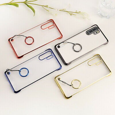 Plating Clear Frameless Slim Hard Case Cover For Huawei Mate 20 P20 Pro P30 Lite