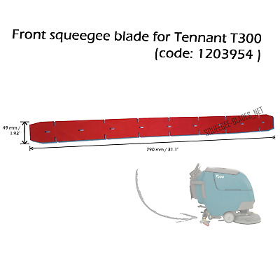 Front squeegee blade for Tennant T300 - FREE WORLDWIDE SHIPPING!
