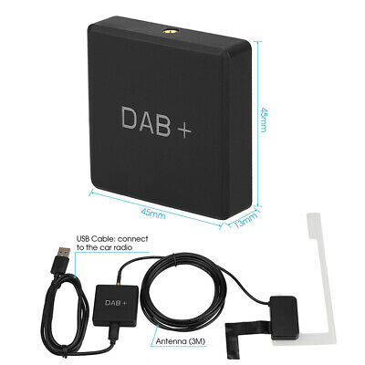 In-Car DAB+ Digital Radio Receiver Amplified Aerial Antenna for Android USB UK