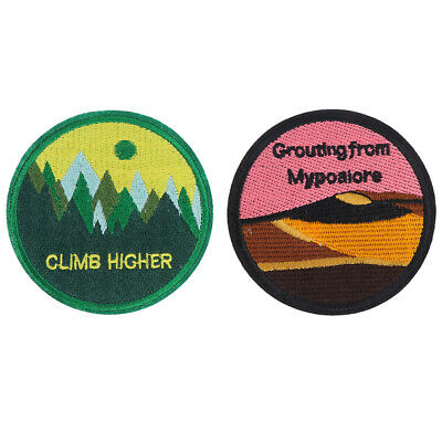 Mountain Stickers Embroidered Patches for Clothing DIY Iron on Patch~GN