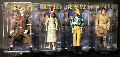 LOT of 4 BEETLEJUICE NECA 2001 FIGURES SPIKED SHRUNKEN HEAD STRETCH FACE NEW