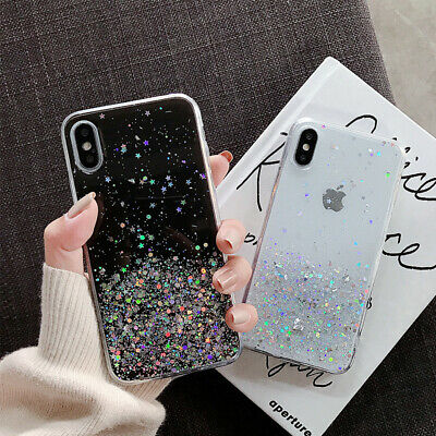 Bling Glitter Case For Samsung Galaxy Note 10 Plus S10 S9 8 Clear Gel Soft Cover