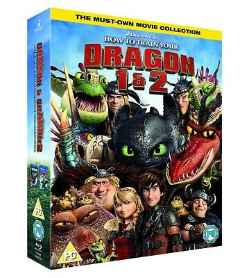 How To Train Your Dragon 1 + 2 DVD Box Set New 2018 Region 2