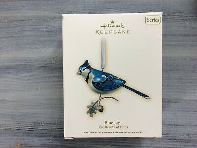 Hallmark 2007 Blue Jay Beauty Of Birds Series #3 Keepsake Ornament Lot 22