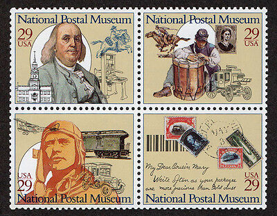 United States, Scott # 2779-2782, Block Of 4 Stamps National Postal Museum, Mnh