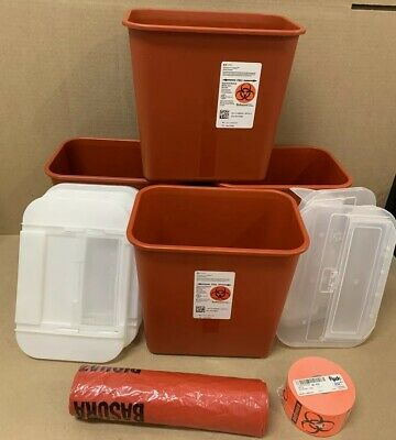 (4) Covidien Sharps-A-Gator Regulated Medical Waste Container - Ref # 31142222