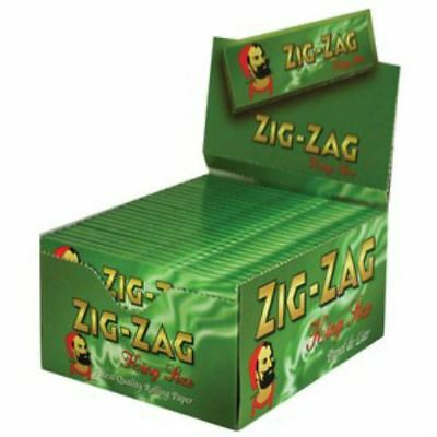 Zig Zag Rolling Papers  King Size Green Box Of 50 Books