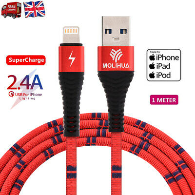 0.5-1m 2.4A Lightning Fast Charging USB Data Cable Sync Cord For iPhone X 8 7 6