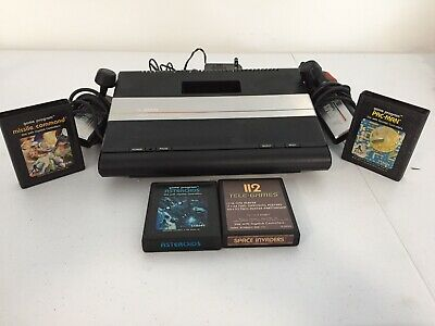 Atari 7800 Console (Joystick, 4 Games, Power Cables, Great Condition)